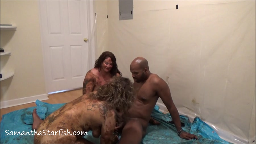 Shit Smeared Threesome FullHD 1080p Samantha Starfish and Scat Goddes, Black Dirty Dick  [Smearing, Efro, Pee, Farting, Poop, Defecation, Extreme Scat, Scatology, Scat Sex, Eating, Kaviar Scat]