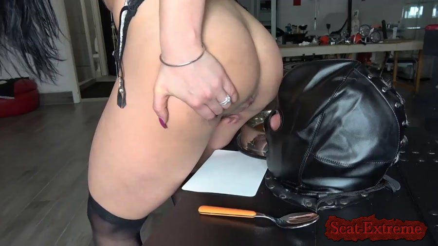 MISTRESS GAIA 4K UltraHD TRAINING MY NEW TOILET SLAVE Pt. 3 [Femdom Scat, Shitting, Scatting, Domination, Latex, Humiliation]