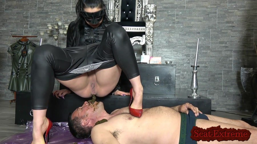 MISTRESS GAIA FullHD 1080p SHIT FACE PLEASURE [Femdom, Domination, Latex, Humiliation, Face Sitting, Toilet Slavery]