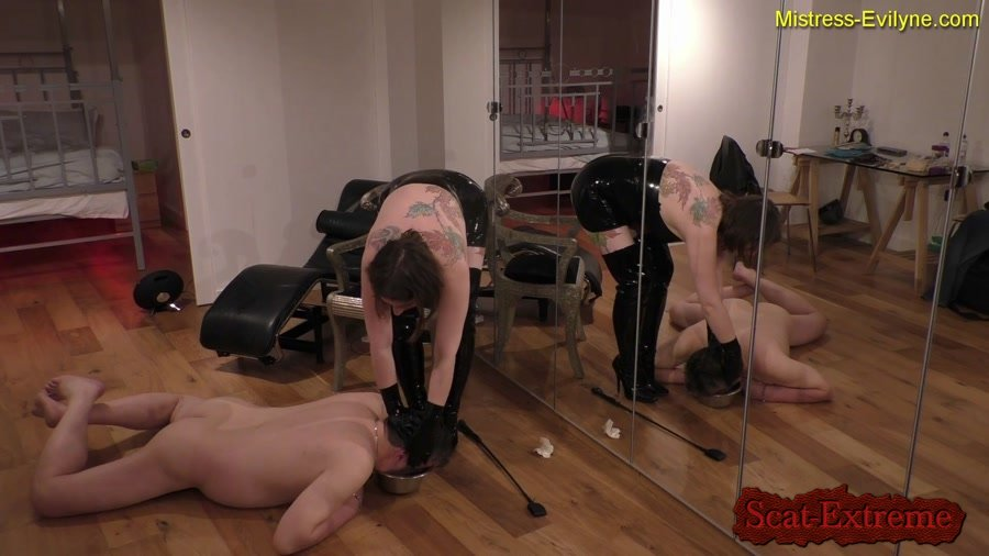 MistressEvilyne FullHD 1080p Feeding Time [Femdom, Domination, Latex, Humiliation, Face Sitting, Strapon]