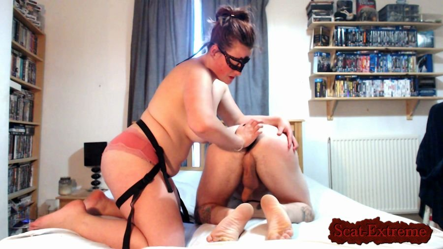 Crvykitten92 FullHD 1080p Strap-on fuck, face SHIT, smother & cum [Femdom, Shitting, Scatting, Domination, Humiliation, Face Sitting]