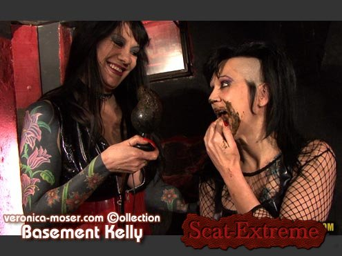 Veronica Moser, Kelly, 1 male SD 720p VM46 - BASEMENT KELLY [Lesbians, Defecation, Extreme Scat, Scatology, Group]