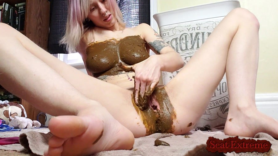 xxecstacy FullHD 1080p Scat Smear Dildo Fuck [Solo, Shitting, Scatting, Masturbation, Blonde, Big Tits]