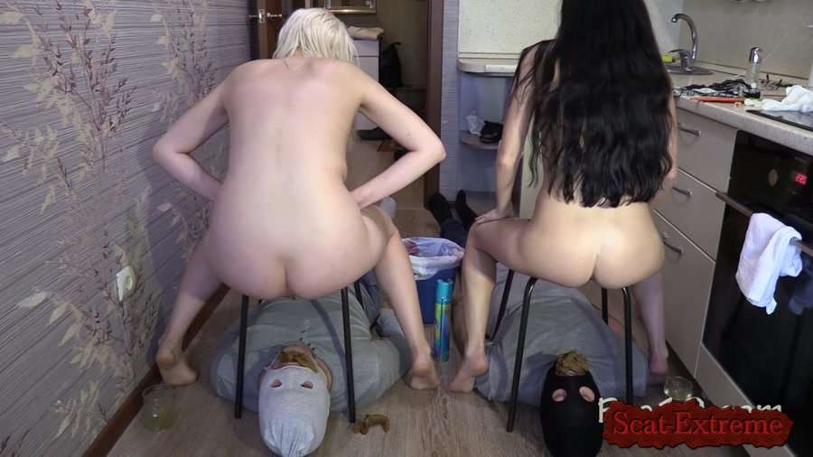 MilanaSmelly FullHD 1080p 2 slaves VS 2 mistresses. Sport competitions! [Femdom, Shitting, Scatting, Domination, Scat Porn, Humiliation, Face Sitting, Toilet Slavery]