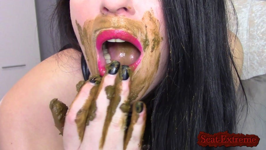 evamarie88 FullHD 1080p Fuck My Shitty Pussy With My Mouth Smeared With Shit [Poop, Extreme Scat, Scatology, Solo, Milf]