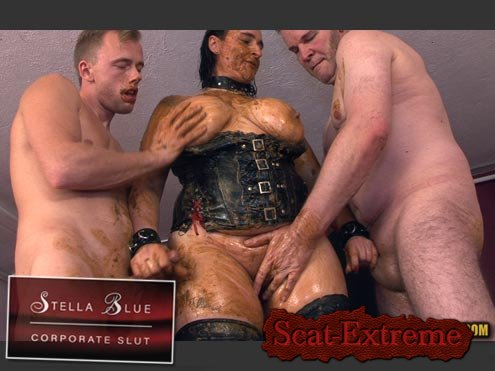 Stella, 3 males HD 720p STELLA BLUE, CORPORATE SLUT [Sex Scat, Blowjob, Sex Shit, Eating, Domination, Group, Anal, Amateur, Scat Fuck]