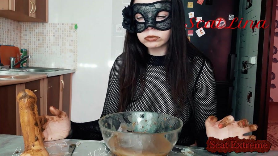 ScatLina FullHD 1080p Soup with shit [Defecation, Extreme Scat, Solo, Scatology]