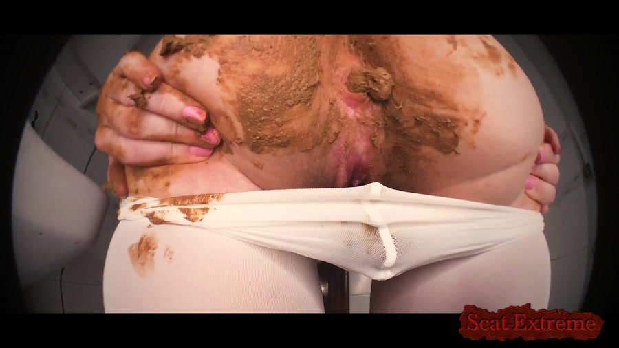 DirtyBetty FullHD 1080p MONSTER poop killing my pantyhose [Solo, Shitting, Scat, Panty]
