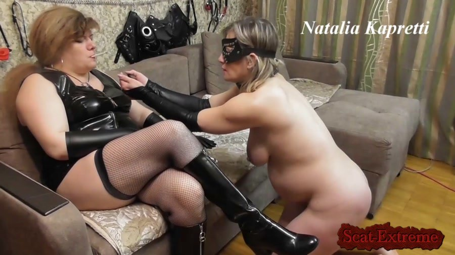 Mistress FullHD 1080p Prepare for shitty lunch shit receiver [Lesbians, Domination, Scat Porn, Humiliation, Face Sitting, Toilet Slavery]