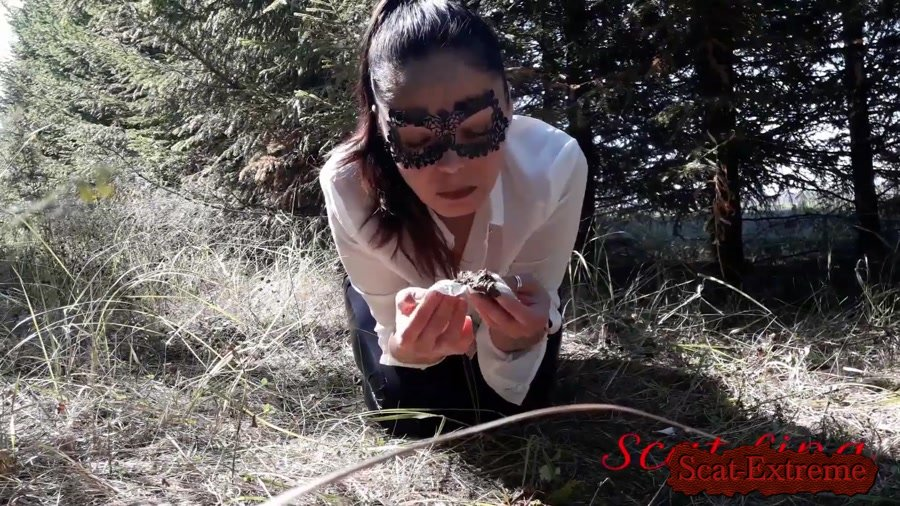 ScatLina FullHD 1080p In the woods fetish [Farting, Poop, Extreme, Solo, Outdoor]