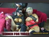 Violet, Luna, 1 male HD 720p DINNER FOR THREE [Smearing, Piss, Blowjob, Efro, Pee, Farting, Poop, Defecation, Extreme, Milf]