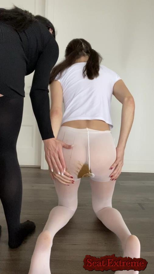 TheHealthyWhores UltraHD 2K Shitting myself inside white pantyhose [Poop, Defecation, Extreme Scat, Scatology, Solo, Teen, Pantyhose]